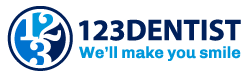123 dentist logo